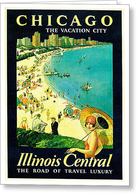 Chicago Greeting Card by Paul Proehl