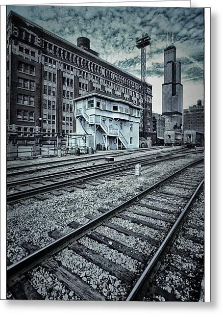 Chicago Rail Station Greeting Card by Donald Schwartz