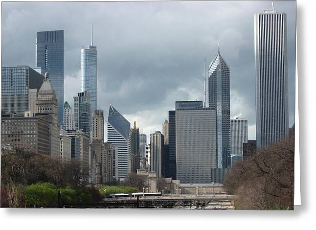 Chicago Skyline 1 Greeting Card