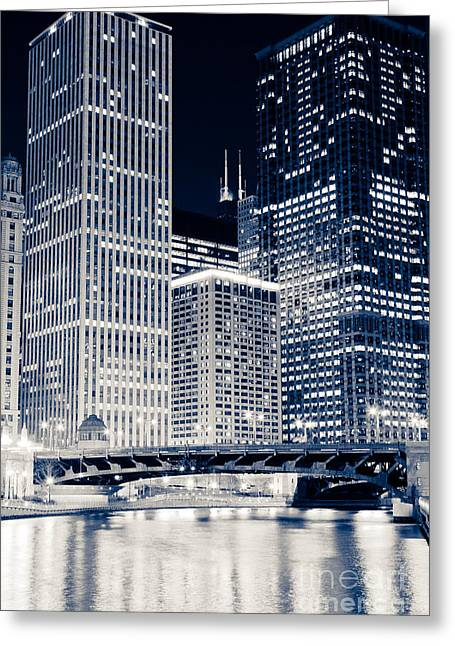 Chicago Unitrin Renaissance Hotel And Leo Burnett Buildings Greeting Card by Paul Velgos