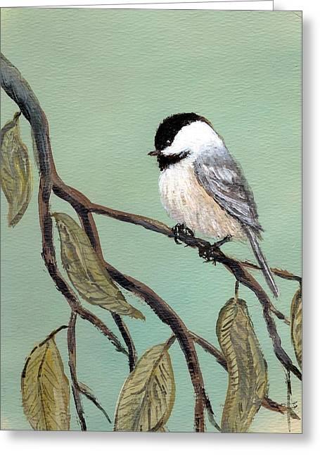 Chickadee Set 10 - Bird 2 Greeting Card by Kathleen McDermott