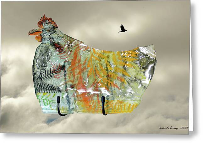 Chicken Pie Greeting Card by Sarah King
