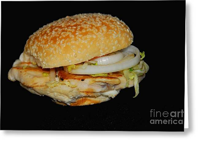 Greeting Card featuring the photograph Chicken Sandwich by Cindy Manero