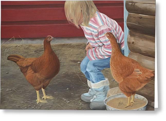 Chicken Talk Greeting Card