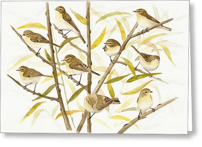 Chiffchaff's Migration Greeting Card by Deak Attila