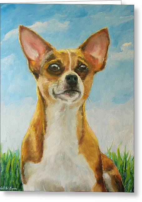 Chihuahua Greeting Card by Daniel W Green