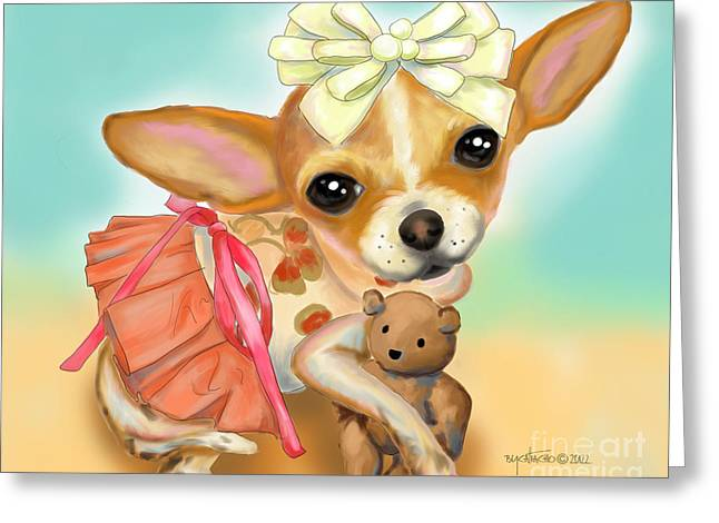 Chihuahua Princess Greeting Card
