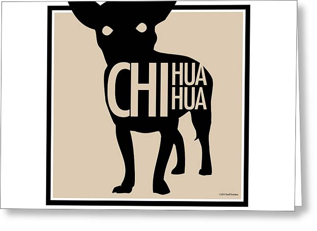 Chihuahua Tan Greeting Card by Geoff Strehlow