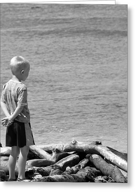 Child In Thought Greeting Card by Elizabeth  Doran