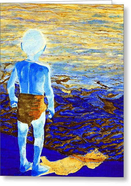 Child Of The Sea 2 Greeting Card by Duwayne Washington