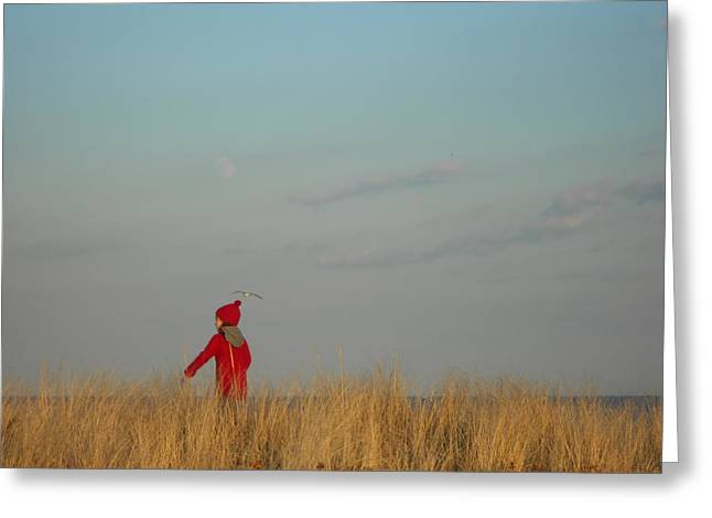Child On The Dunes Greeting Card by Joe  Burns