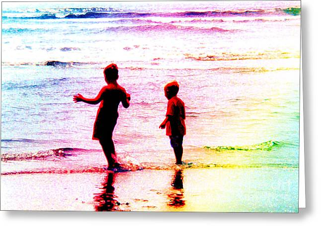 Childhood At The Beach Greeting Card