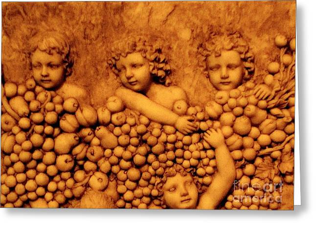 Children Among The Grapes Greeting Card by Annie Zeno