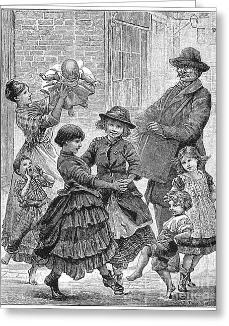 Children Dancing Greeting Card by Granger