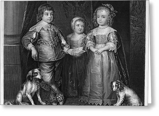 Children Of Charles I Greeting Card by Granger