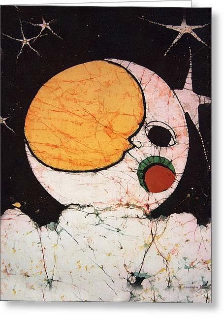 Children's Moon Greeting Card by Alexandra  Sanders