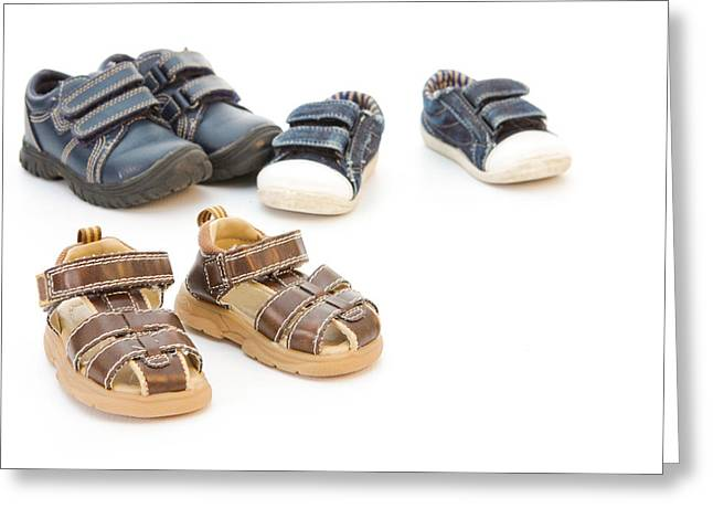 Childs Shoes Greeting Card