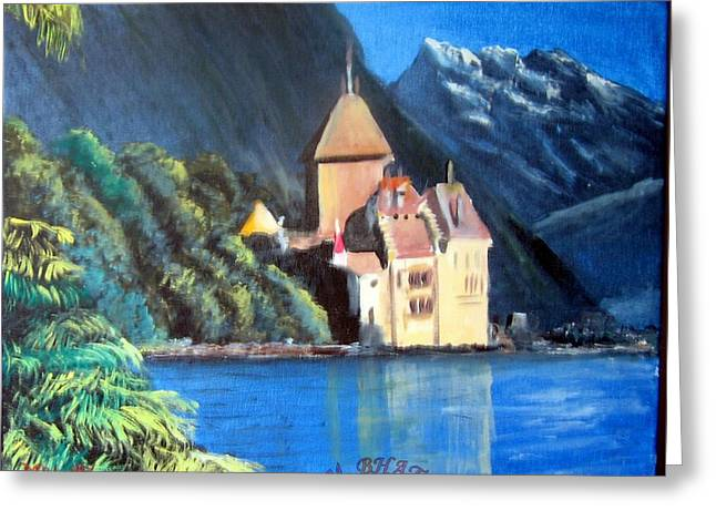 Chillon Castle Greeting Card by M Bhatt
