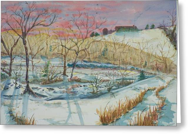 Chilly Morning Greeting Card by Barbara McGeachen