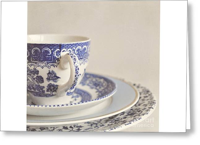 China Cup And Plates Greeting Card