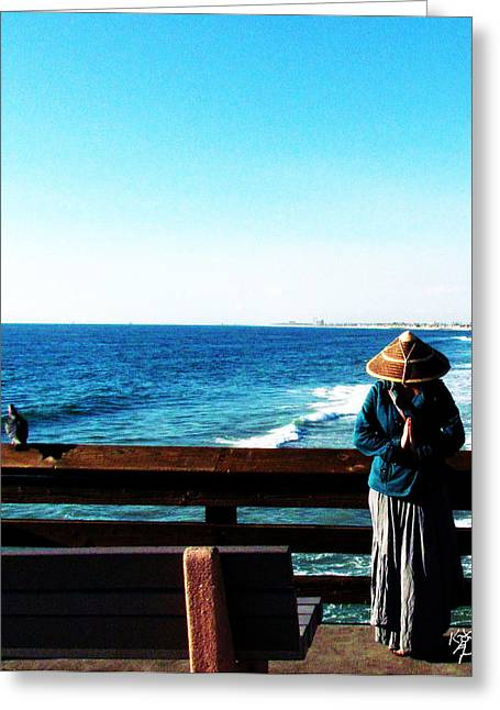 China Hat In Newport Greeting Card
