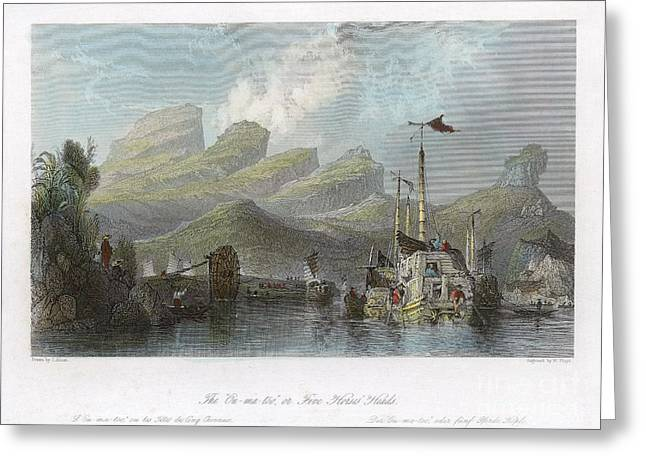 China: Mountains, 1843 Greeting Card by Granger