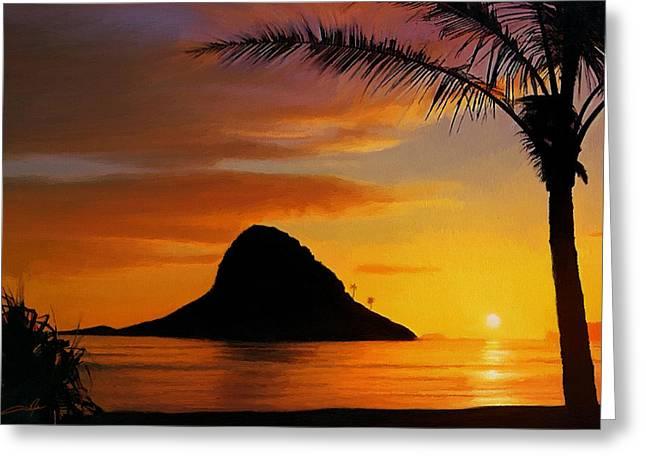 Chinaman's Hat Island Greeting Card by Dale Jackson