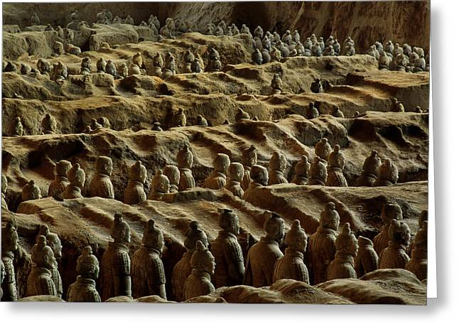 Chinas Great Terracotta Army Is Seen Greeting Card