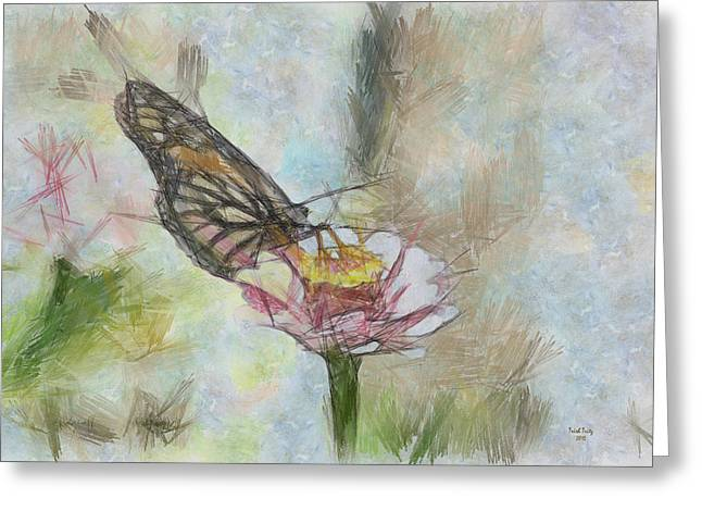 Chinese Butterfly Greeting Card by Trish Tritz