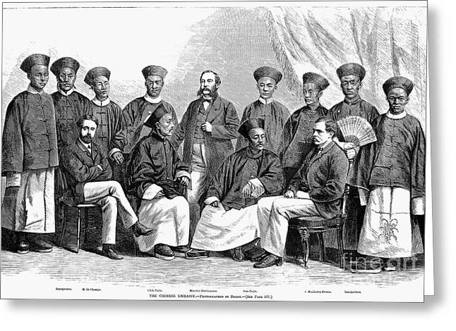 Chinese Delegation, 1868 Greeting Card by Granger