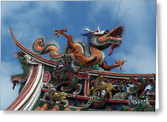 Chinese Dragon Greeting Card by Steve Huang