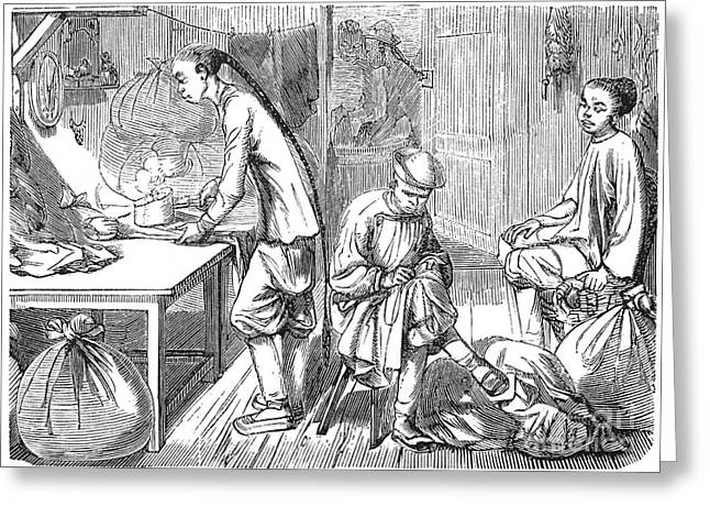 Chinese Immigrants, 1855 Greeting Card by Granger