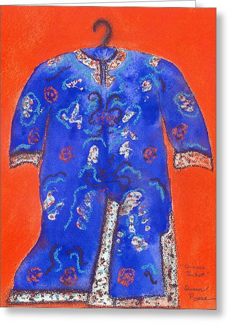 Chinese Jacket Greeting Card by Susan Risse