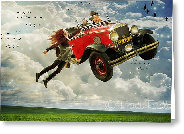 Chitty Chitty Oh No Greeting Card by Patricia Ridlon