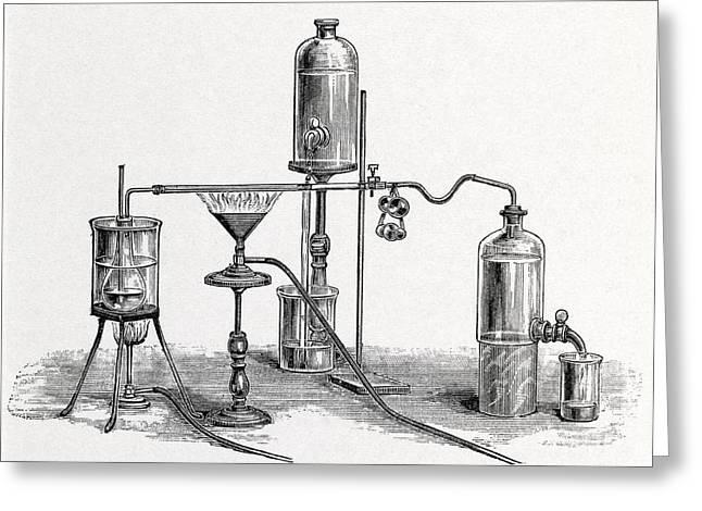 Chloroform Analysis, 19th Century Artwork Greeting Card