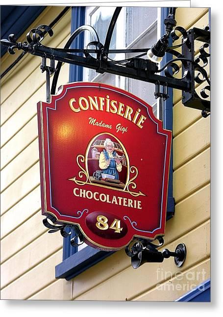 Chocolate Greeting Card by Anne Gordon