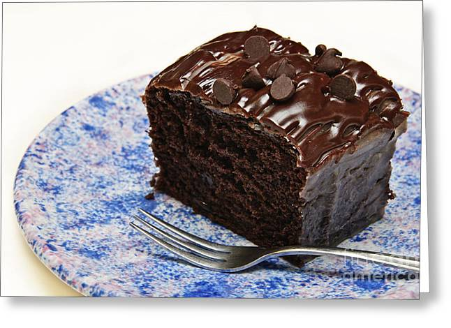 Chocolate Chip Cake Greeting Card