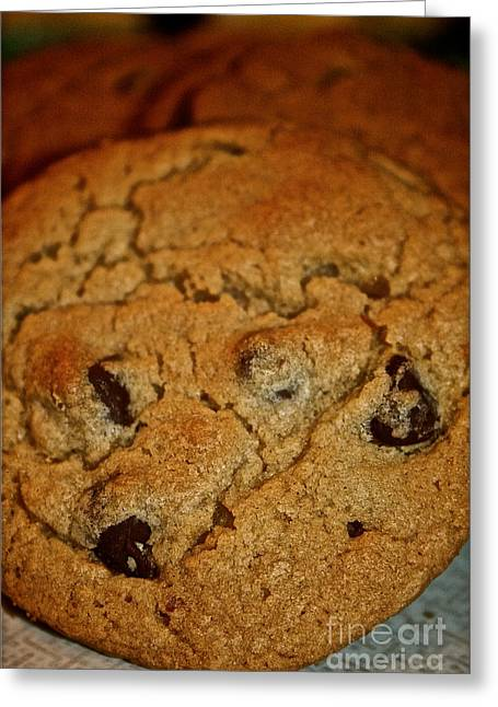 Chocolate Chip Comfort Greeting Card by Susan Herber