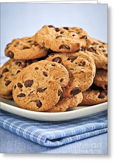 Chocolate Chip Cookies Greeting Card by Elena Elisseeva