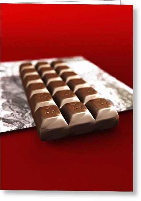 Chocolate, Computer Artwork Greeting Card by Christian Darkin