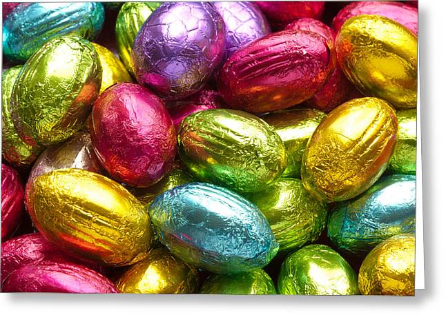 Chocolate Easter Eggs Greeting Card by Hans Engbers