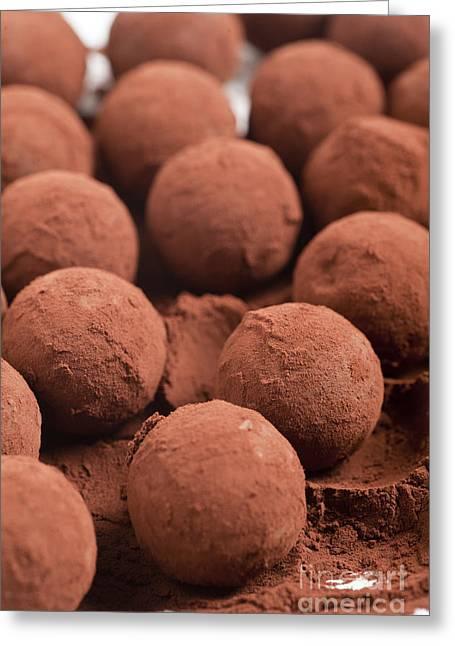 Chocolate Truffles With Cocoa Powder  Greeting Card by Ilan Amihai