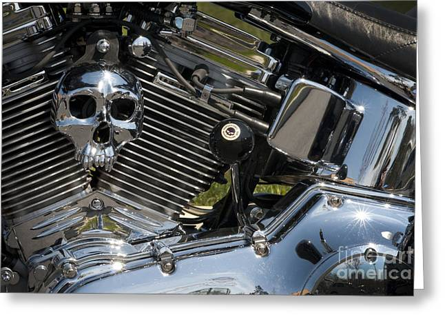 Chopper Skull Greeting Card by Paul W Faust -  Impressions of Light