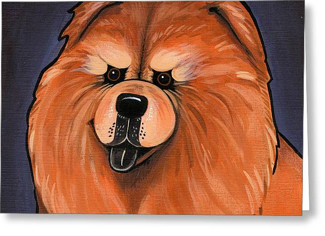 Chow Chow Greeting Card by Leanne Wilkes