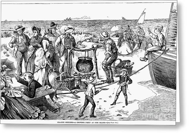 Chowder Party, 1873 Greeting Card by Granger