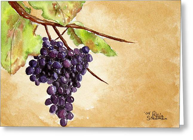 Chris' Grapes Greeting Card