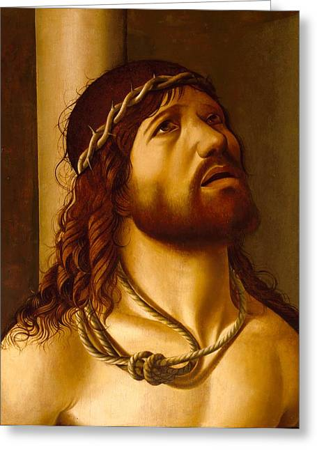 Christ At The Column Greeting Card