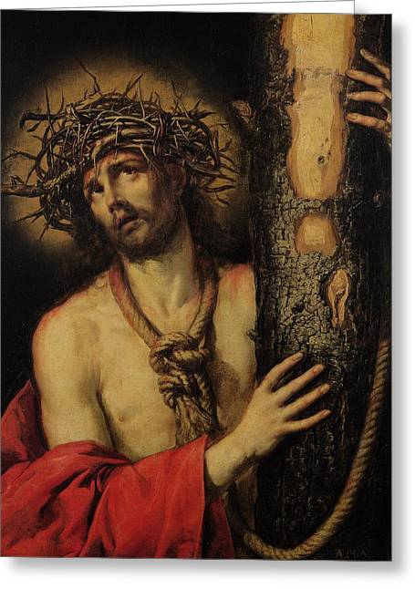 Christ Man Of Sorrows Greeting Card by Antonio Pereda y Salgado