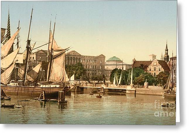 Christianborg Palace And Port Of Copenhagen Greeting Card