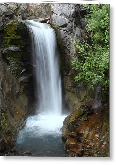 Christine Falls Greeting Card by Angie Vogel